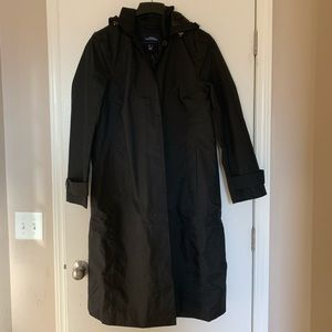 Lands End women's long trench coat